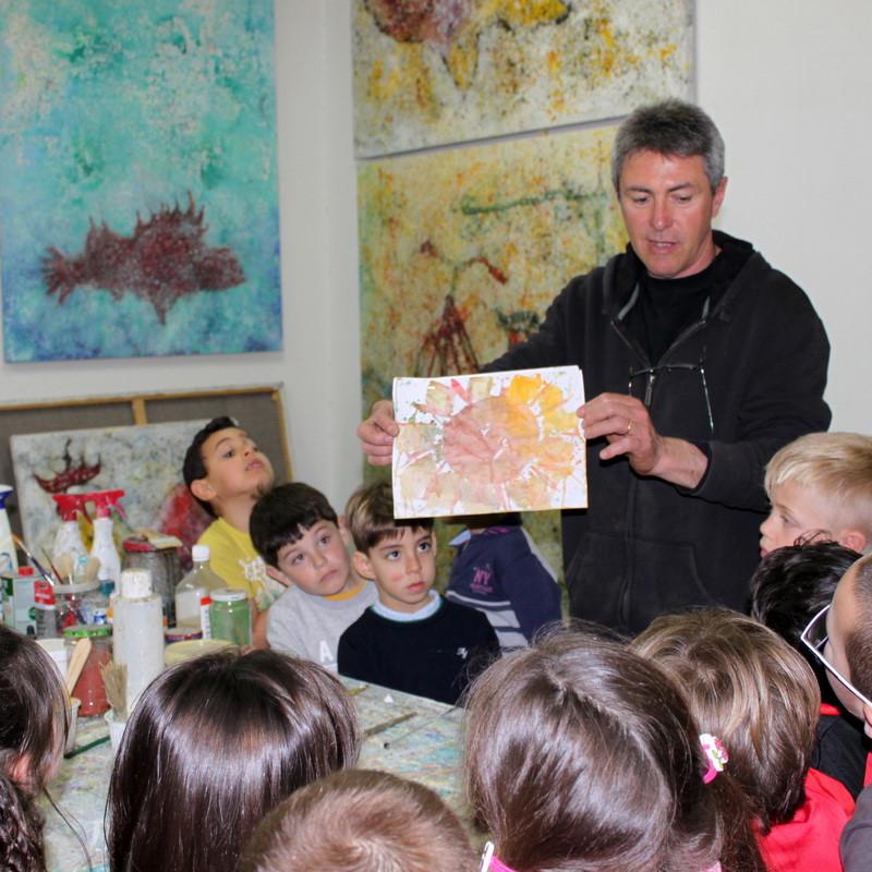 Visita al estudio Escola de Ca'n Picafort