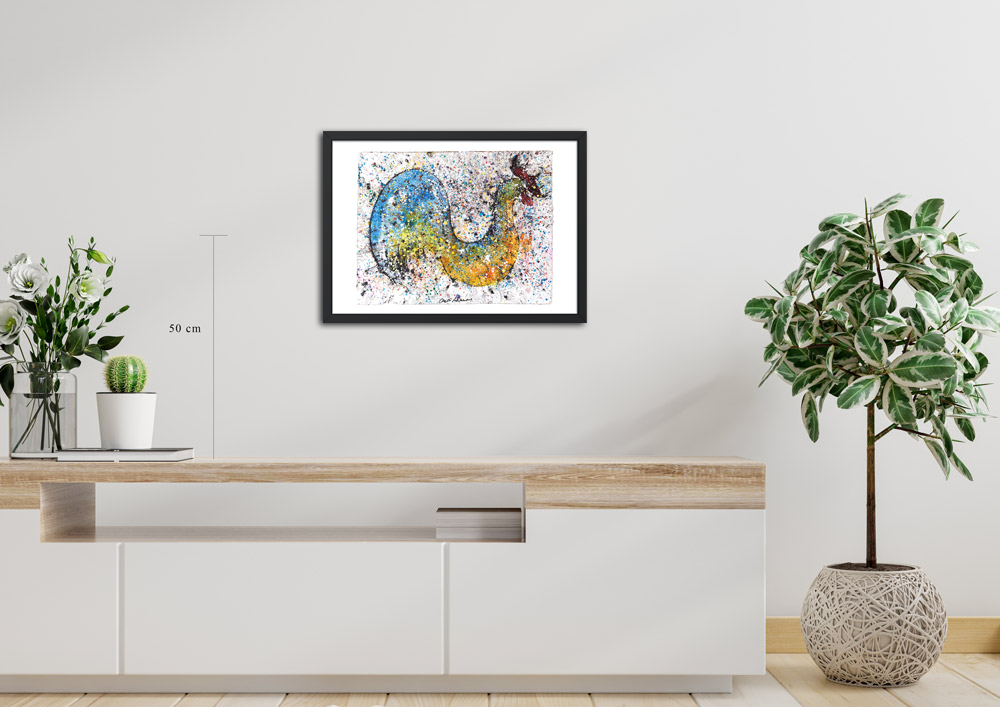 Dibujo de Gallo cálido